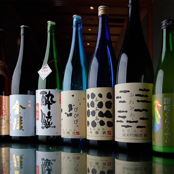 四国の地酒全17種取り揃え
